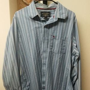 Men's Abercrombie and Fitch button down shirt mint